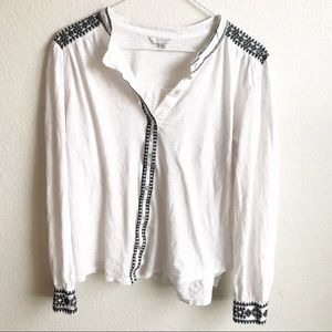Lucky Brand Button Down flowy top, size Large